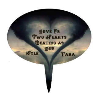 Tornado Heart Topper with Names - Wild West font