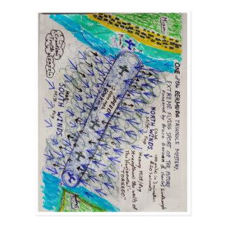 Tornado horizontal tarjeta postal