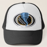 """Tornado Hunter Trucker Hat! Trucker Hat<br><div class=""""desc"""">The perfect hat for the tornado hunter of the family! Features cool tornado,  bold title text,  and surrounding logos. Fully customizable to add names,  images,  and more if desired. Enjoy!</div>"""