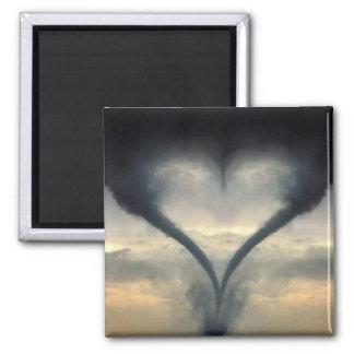 tornado-love 2 inch square magnet