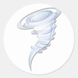 Tornado Pegatina Redonda