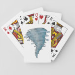 "Tornado Playing Cards<br><div class=""desc"">A tornado is an awesome and terrifying weather event. This design is a tornado that has whipped itself up into a frenzy. The tornado looks like it is packing a lot of power. This tornado design looks great on these playing cards. Perfect for yourself or as a gift</div>"