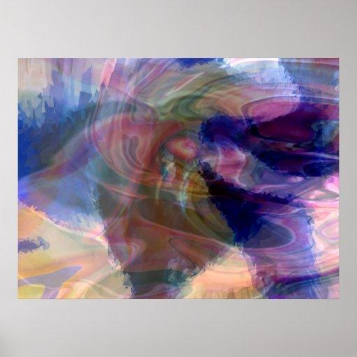 Tornado psicodélico póster