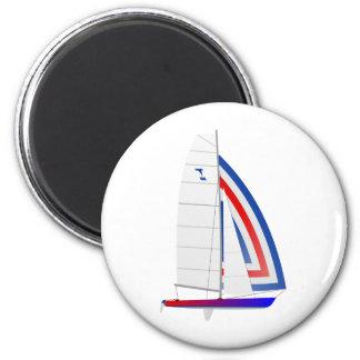 Tornado que compite con la clase olímpica del oned imán redondo 5 cm