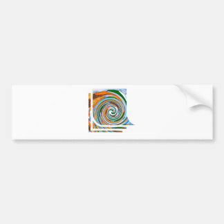 Tornado Revolution Waves : Nature Blaast Beautiful Bumper Sticker