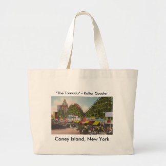Tornado Roller Coaster - Coney Island NY /The Bobs Large Tote Bag