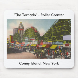 Tornado Roller Coaster - Coney Island NY /The Bobs Mouse Pads