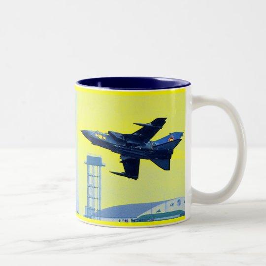 Tornado Royal Air Force de Panavia Taza De Café De Dos Colores