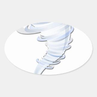 Tornado Oval Stickers