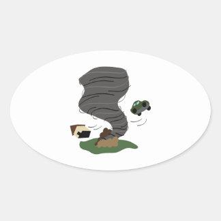 Tornado Oval Sticker
