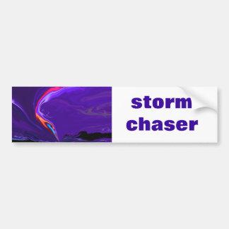 tornado storm chaser bumper sticker car bumper sticker