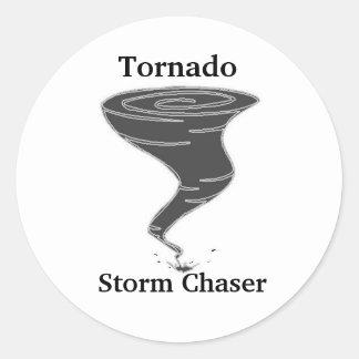 Tornado Storm Chaser - Round Stickers