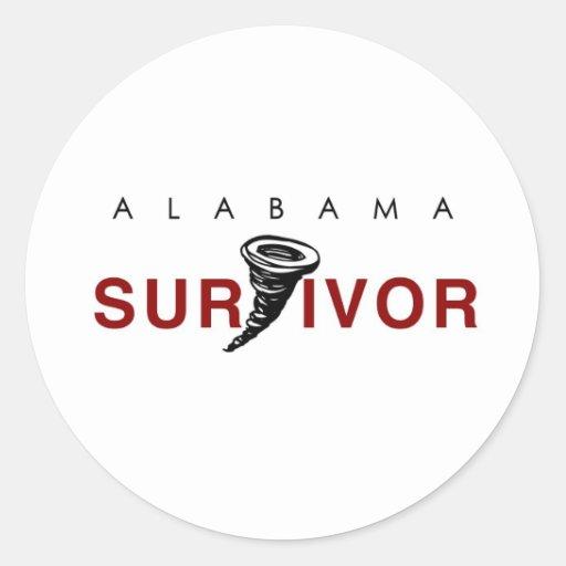 Tornado Survivor Classic Round Sticker