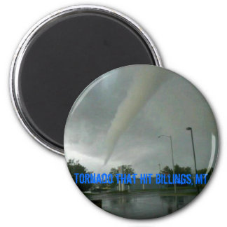 Tornado that hit Billings, MT 2 Inch Round Magnet