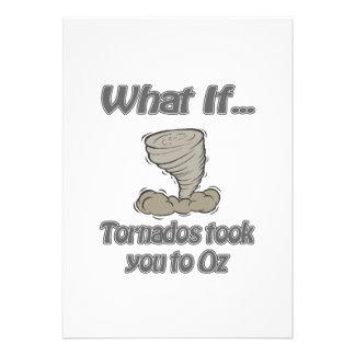 Tornado to Oz Invitation