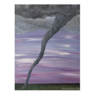 Tornado TornadoPainting gris púrpura de Z Postales