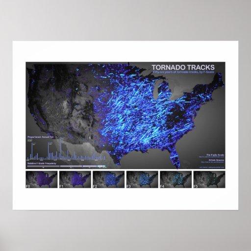 Tornado Tracks Poster