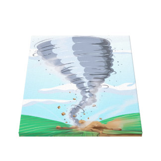 Tornado Twister Stretched Canvas Print