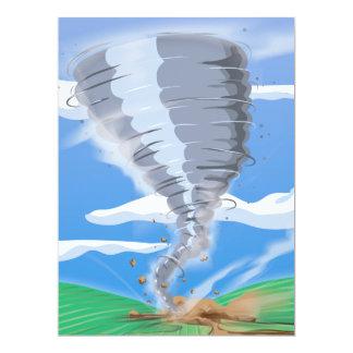 Tornado Twister 6.5x8.75 Paper Invitation Card