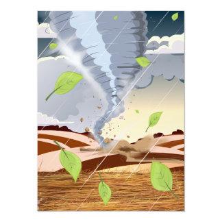 Tornado Twister 5.5x7.5 Paper Invitation Card