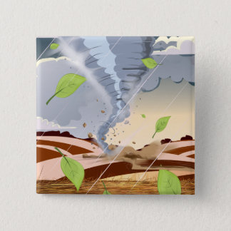 Tornado Twister Pinback Button