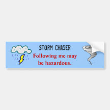 Tornado Twister Storm Chaser Design Bumper Stickers