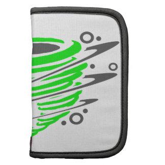 Tornado verde de giro planificador