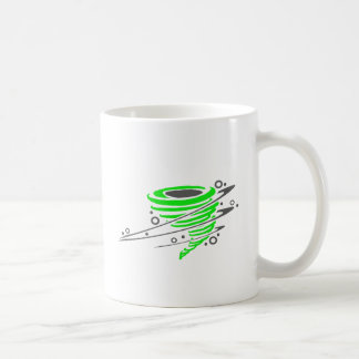 Tornado verde de giro taza