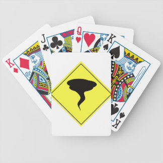 Tornado Warning Sign Bicycle Playing Cards