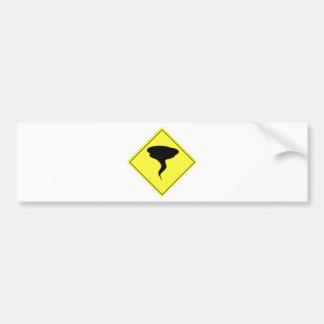 Tornado Warning Sign Bumper Sticker