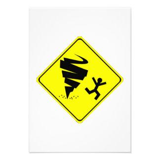 Tornado Warning Sign Invite