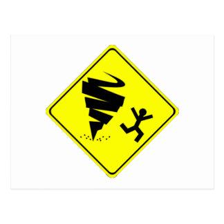 Tornado Warning Sign Postcard