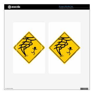 Tornado Warning Sign Kindle Fire Skins