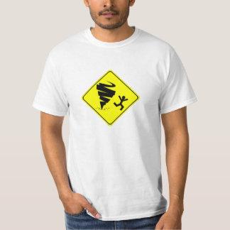 Tornado Warning Sign Tee Shirt