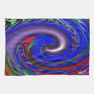 Tornado Wave Pattern Hand Towel
