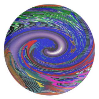 Tornado Wave Pattern Plate