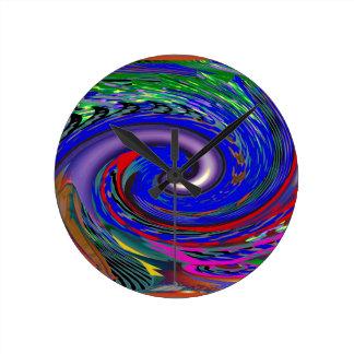 Tornado Wave Pattern Round Clock