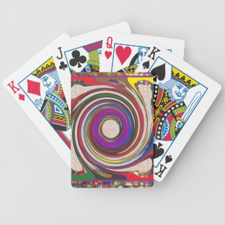Tornado Whirlwind HighTide Waves colorful art Bicycle Playing Cards