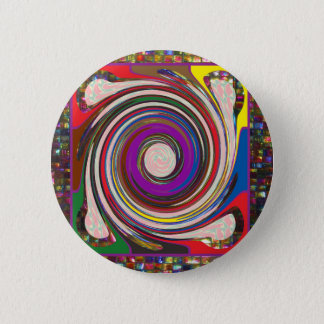 Tornado Whirlwind HighTide Waves colorful art Button