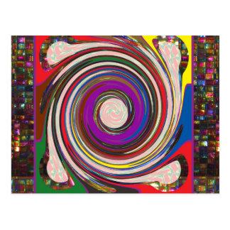 Tornado Whirlwind HighTide Waves colorful art Postcard