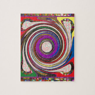Tornado Whirlwind HighTide Waves colorful art Puzzle