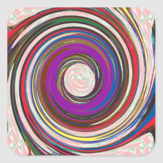 Tornado Whirlwind HighTide Waves colorful art Square Sticker