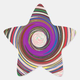 Tornado Whirlwind HighTide Waves colorful art Star Sticker