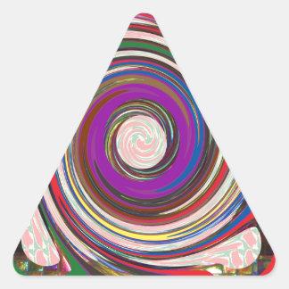 Tornado Whirlwind HighTide Waves colorful art Triangle Sticker