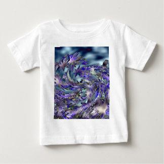 Tornado Windy Blue Leaves Design Baby T-Shirt