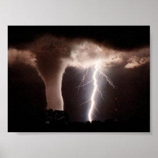 Tornado y relámpago impresiones