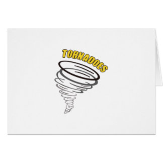 TORNADOES GREETING CARD
