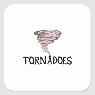 TORNADOES SQUARE STICKERS