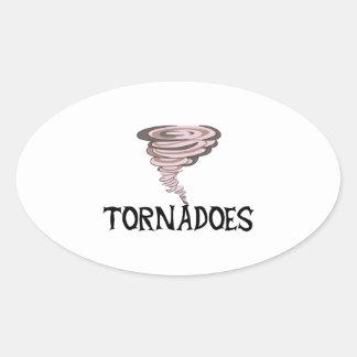 TORNADOES OVAL STICKER