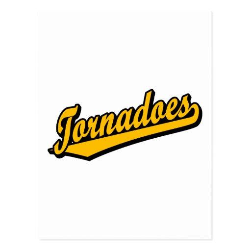 Tornados en naranja tarjeta postal